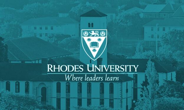 Rhodes University teal blue banner