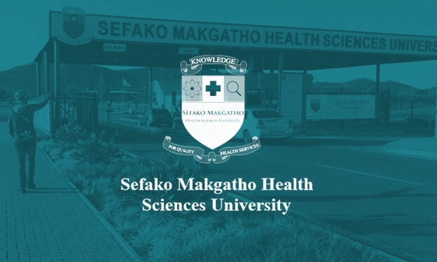 Sefako Makgatho Health Sciences University teal coloured banner