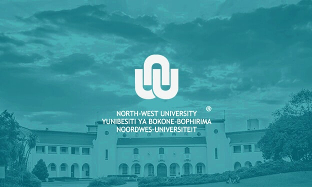North West University teal blue banner