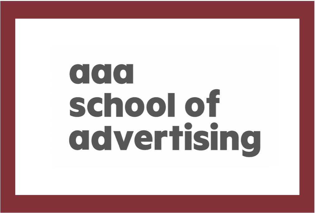 AAA School of Advertising Text Banner